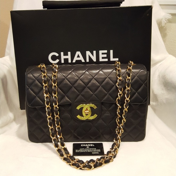 94f4a6f4bdc1 CHANEL Handbags - Authentic CHANEL Maxi Jumbo Quilted Matelasse XL